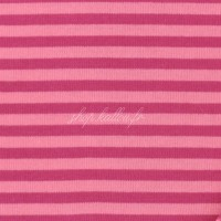 Tissu jersey Kiyohara rayé coloris Rose pâle et fushia (x 25 cm)