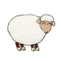 Ecusson thermocollant mouton blanc