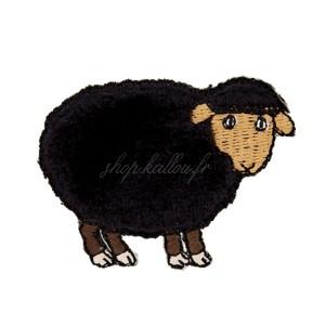 Ecusson thermocollant mouton noir