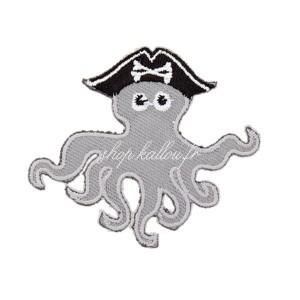 Ecusson thermocollant pieuvre pirate