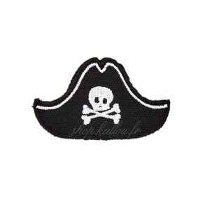 Ecusson thermocollant chapeau pirate