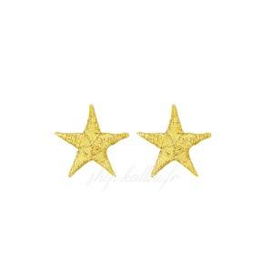 Ecusson thermocollant mini étoile or 25mm (1 pièce)