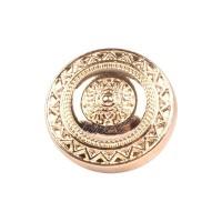 Bouton métal rond doré 18mm, coloris or