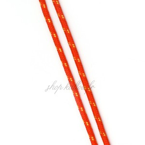 Cordon en polyester rayé, rouge et orange 3mm