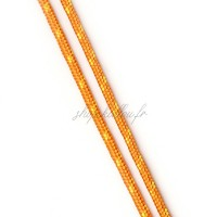 Cordon en polyester rayé, orange et jaune 3mm