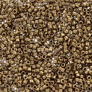 Perles rocaille Toho Treasure 11/0 Bronze, tube de 3g, ref TREASURE 221