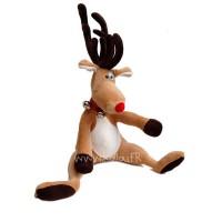 Kit de couture Rudy le renne, patron de peluche à coudre et mercerie inclus