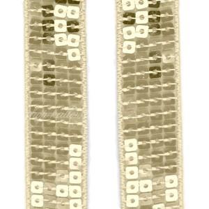 Galon à sequins Or, 22mm