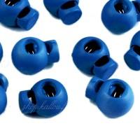 Arrêt de cordon 15x19mm, stop cordon, coloris bleu outremer (lot de 2)