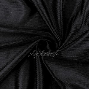 Tissu pour lingerie en polyamide stretch, coloris noir (x 50 cm)