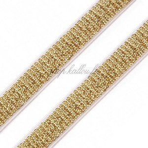Élastique plat lurex or, 10mm pour lingerie