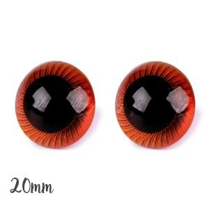 Yeux sécurité Fauve 20mm pour peluche, pupille ronde (1 paire)