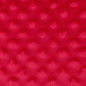 Minky Dot, coloris rouge (x 50 cm)