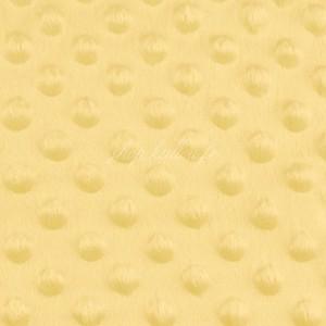 Minky Dot, coloris jaune poussin (x 50 cm)
