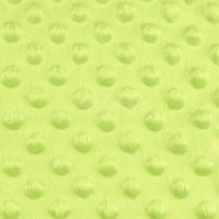 Minky Dot, coloris vert anis (x 50 cm)