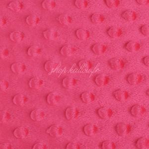 Minky Dot, coloris rose vif (x 50 cm)