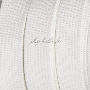 Élastique plat blanc, 2 cm