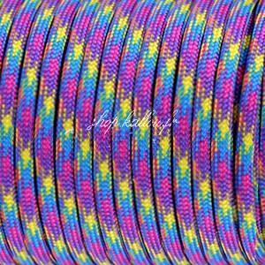 """Cordon """"paracord"""", multicolore 4mm"""