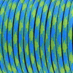 "Cordon ""paracord"", bleu et vert 4mm"