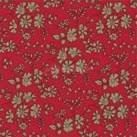 Liberty Capel rouge, Liberty of London qualité Tana Lawn (x 25 cm)