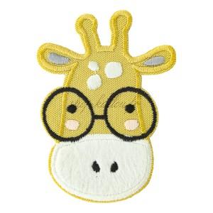 Ecusson thermocollant girafe à lunettes