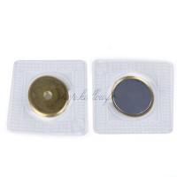 Aimants plat Neodymium 18mm avec trou à coudre, coloris or