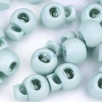 Arrêt de cordon 15x19mm, stop cordon, coloris bleu gris (lot de 2)