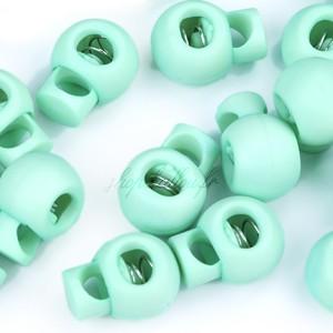 Arrêt de cordon 15x19mm, stop cordon, coloris bleu céladon (lot de 2)