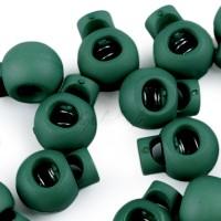 Arrêt de cordon 15x19mm, stop cordon, coloris vert sapin (lot de 2)
