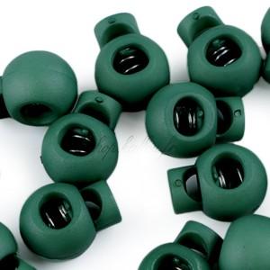 Arrêt de cordon, stop cordon, coloris vert sapin (lot de 2)
