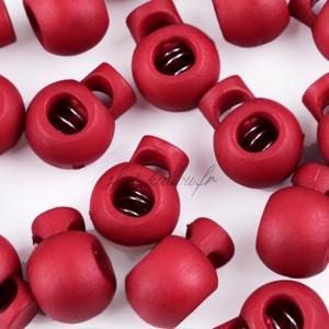 Arrêt de cordon, stop cordon, coloris rouge bordeau (lot de 2)