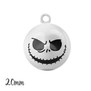 Grelot squelette Jack 20mm, grelot halloween, à l'unité