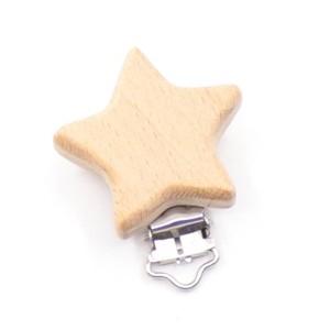 Clip attache Tétine forme étoile, coloris Naturel (1 pièce)