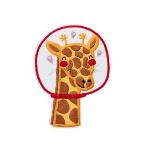 Ecusson thermocollant girafe au scaphandre, de l'espace