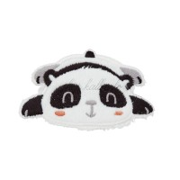 Ecusson thermocollant panda kawaii couché