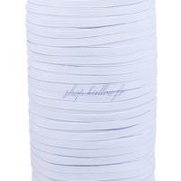 Élastique plat 3 mm blanc au mètre
