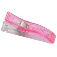 Pinces longue à tissu, coloris rose, lot de 2.