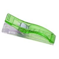 Pinces longue à tissu, coloris vert, lot de 2.
