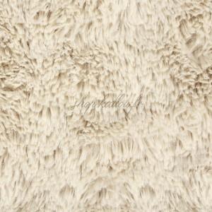 Tissu doudou Shaggy, coloris beige à poils longs