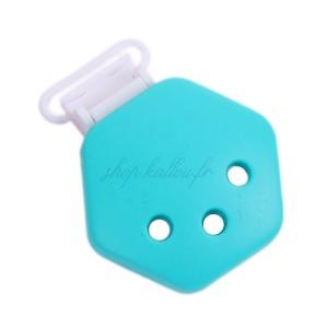 Clip attache Tétine en silicone, coloris Bleu (1 pièce)