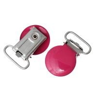 Clip métal attache Tétine, coloris Rouge pastèque (1 pièce)