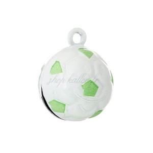 Grelot ballon de foot vert 20mm, à l'unité