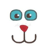 Ecusson thermocollant visage doudou (yeux + nez)