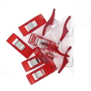 Pinces à tissu, coloris rouge, lot de 10.