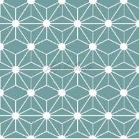 Tissu géométrique hexagone, coloris bleu gris (x 50cm)