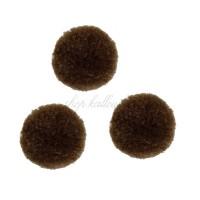 Pompons marron chocolat, très doux, 20 mm (lot de 3 pièces)