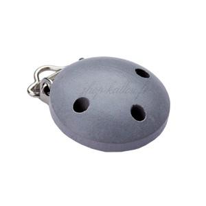 Clip attache Tétine, coloris gris souris (1 pièce)