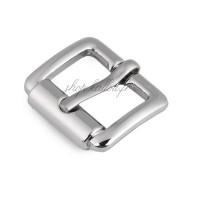 Boucle de ceinture métal carrée pour sac, coloris argent, pour sangle 18 mm