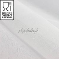 Tissu coton mousseline alimentaire, coloris blanc (x 50cm)