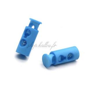 Arrêt de cordonnet, stop lacet, coloris bleu (lot de 2)